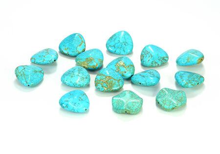 turquoise Jewel on white background photo