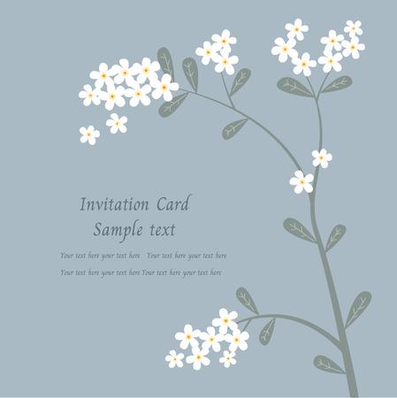 invitation card, greeting with plumeria (Frangipani) flowers