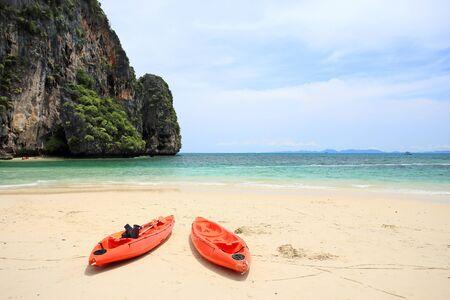phra nang: tropical sea Phra Nang, Krabi, Thailand. Stock Photo