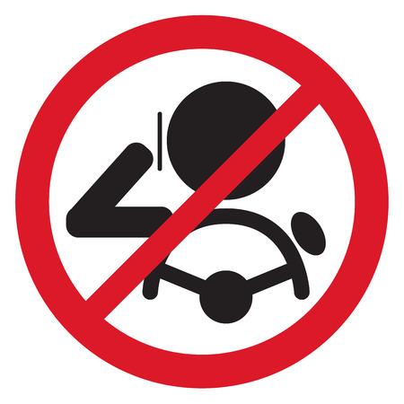 safe: No Smartphone when drive Sign vector illustration Illustration