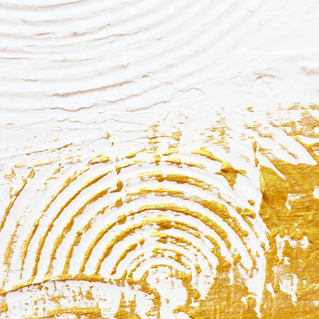 abstract art: acrylic textured gold paint abstract background