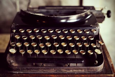 Antieke typemachine vintage filter Stockfoto