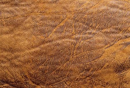 Natuurlijke bruin leder textuur Stockfoto