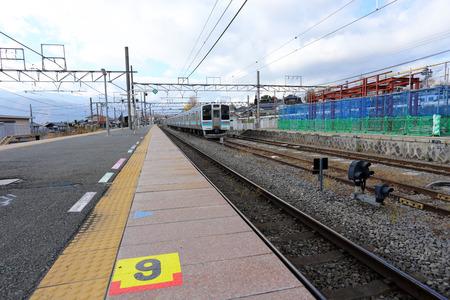 railway transport: train station at japan