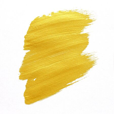 smudged: gold textured painting on white background
