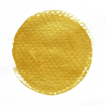 gold textured background: gold textured painting on white background