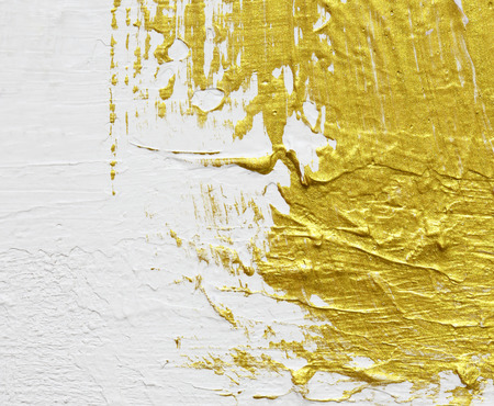 gold textured background: gold textured abstract painting on white background