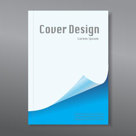 book design: Modern abstract brochure  book  design template Illustration