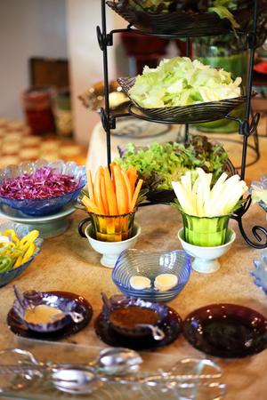 Buffet style salad 写真素材