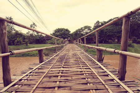 view of river in Pai north of thailand 写真素材