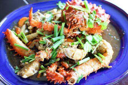 alaska crab sea food cooked