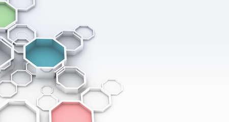 octagonal: Resumen de antecedentes octagonal 3D Foto de archivo