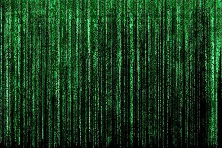 codigo binario: Gran fondo verde de la matriz, c�digo de ordenador con s�mbolos y caracteres.