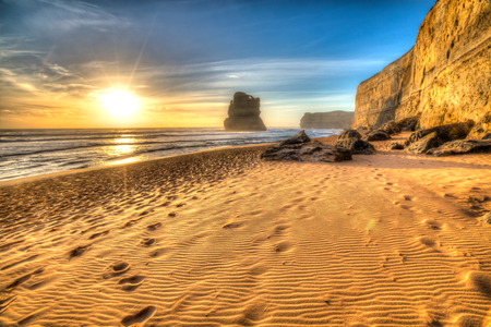 Gibson Steps beach in Port Campbell National Park on the Great Ocean Road, Victoria state, Australia. .