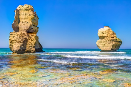 ocean state: Gibson Steps beach in Port Campbell National Park on the Great Ocean Road, Victoria state, Australia.