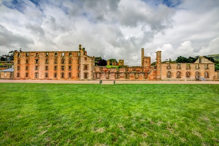 arthur: The Penitentiary is located in Port Arthur Historic Site, Which until 1877 was a penal colony for prisoners. Stock Photo
