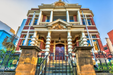 historical buildings: Spectacular and colorful historical buildings, Hobart Town, Tasmania, Australia.