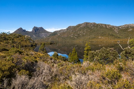 clair: Dove Lake is is an ancient glacial lake near Cradle Mountain in Tasmania, Australia. It lies in the famous tourist and Cradle Mountain and Lake St Clair National Park. Lake
