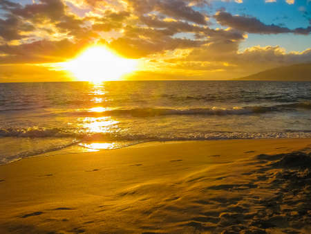 maui: Sunset over the ocean. Maui, Hawaii.