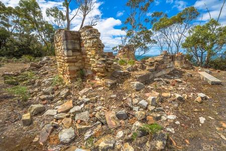 tasmanian: National Heritage Places - Coal Mines Historic Site c.1833, Saltwater River, Tasmanian Peninsula, Tasmania, Australia. .