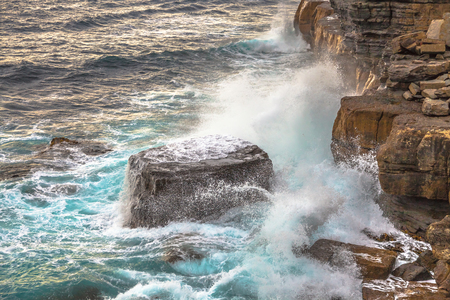 blow hole: The Tasman National Park, offers some of the best coastal walks in the country and landscapes of the coast of the most spectacular of the Tasman Peninsula in the south east coast of Tasmania