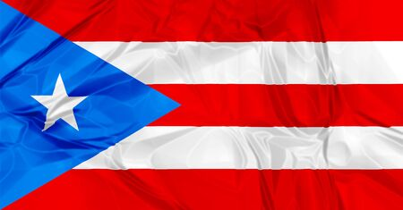 puerto rican flag: 3D waving Puerto Rico flag background red, blue and white colors, Latin America Caribbean