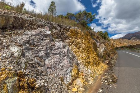 rocks and minerals: Tipical rocks minerals around Queenstown in Tasmania, Australia.