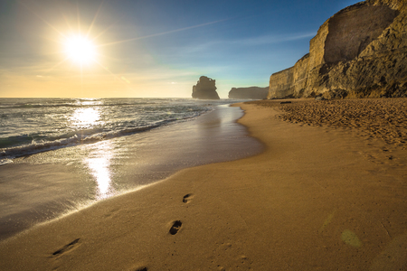 gibson: Gibson Steps beach at sunset in Port Campbell National Park on the Great Ocean Road, Victoria state, Australia. Stock Photo