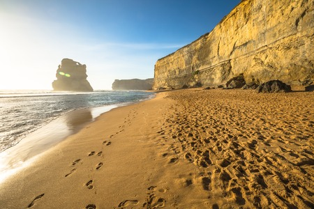 gibson: Gibson Steps beach in Port Campbell National Park on the Great Ocean Road, Victoria state, Australia.