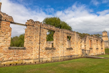 penal: Ruins of the Paupers Mess at Port Arthur Historic Site, Which until 1877 was a penal colony for prisoners. The site is located on Tasman Peninsula, Tasmania, Australia.