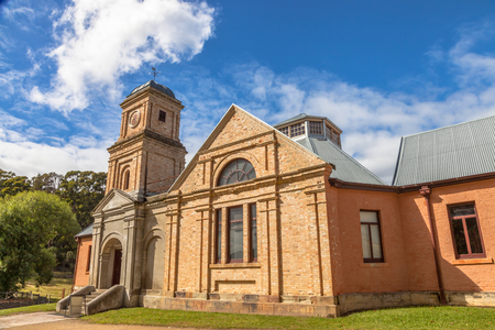 prisoners: The asylum of Historic Site Port Arthur. Until 1877 this site was a penal colony for prisoners. It is located in Tasman Peninsula, Tasmania, Australia. Stock Photo