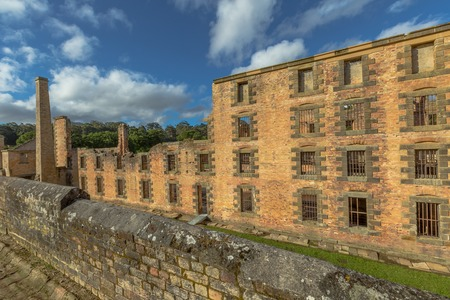 penal: The Penitentiary is located in Port Arthur Historic Site, Which until 1877 was a penal colony for prisoners. Stock Photo