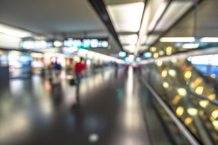blur effect: Passengers walk to the gate for boarding. Terminal airport blur effect.