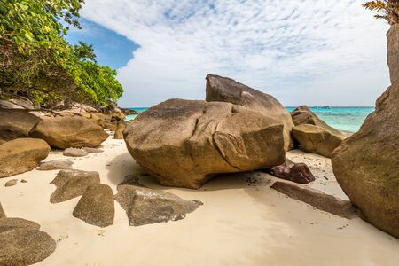 similan islands: The famous granite rocks of Similan Islands National Park, Phang Nga, Thailand, one of the tourist attraction of Andaman Sea.