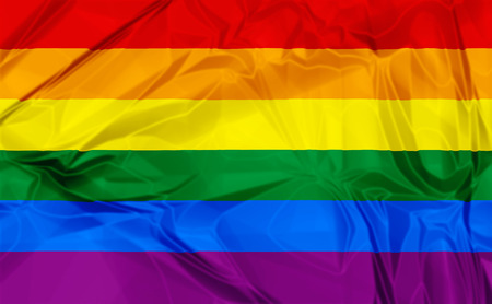 Kleurrijke Gay Pride Rainbow vlag achtergrond 3D
