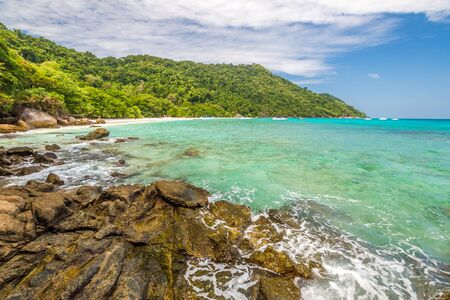 similan islands: Similan Islands National Park, Phang Nga, Thailand, one of the tourist attraction of Andaman Sea. Stock Photo