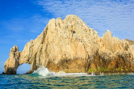 baja california: Los Arcos rock formation at Lands End in Cabo San Lucas, Baja California Sur, Mexico. Stock Photo