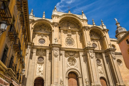 Renaissance facade of the Cathedral of Granada in Andalusia, Spain.