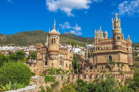 Le célèbre Castillo de Colomares est un monument semblable à un château de conte de fées, dédié à Christophe Colomb. Benalmadena, près de Malaga en Andalousie, Espagne. Éditoriale