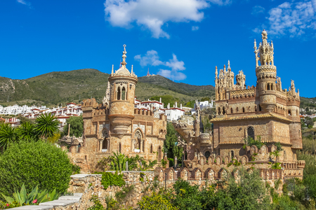 fairytale castle: The famous Castillo de Colomares is a monument similar to a fairytale castle, dedicated to Christopher Columbus. Benalmadena, near Malaga in Andalusia, Spain. Editorial