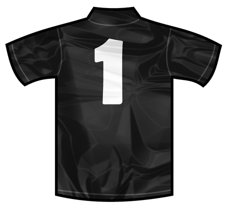 new zeland: Number 1 one Black sport shirt as a soccer,hockey,basket,rugby, baseball, volley or football team t-shirt. For the goalkeeper or the referee or New Zeland team