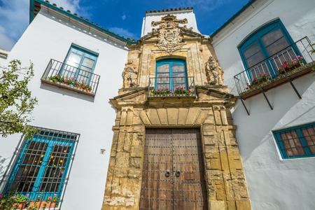 The renaissance portal of Palacio de Viana in Cordoba, Andalusia, Spain.