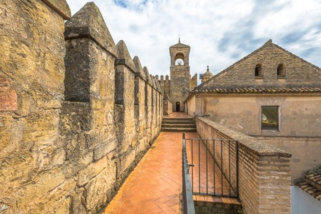 The Alcazar de los Reyes Cristianos with the main tower of the fortress in Cordoba, Andalusia, Spain. Editorial