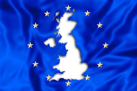 uk money: European flag missing United Kingdom. Financial concept for brexit. 3d illustration.