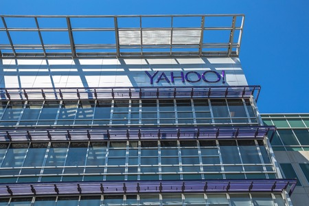 yahoo: Sunnyvale, California, United States - August 15, 2016: Yahoo Headquarters building. Yahoo Inc. is a multinational technology company that is known for its web portal and search engine Yahoo Search. Editorial