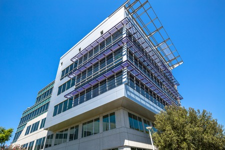 yahoo: Sunnyvale, California, United States - August 15, 2016: Yahoo Headquarters office building. Yahoo is a multinational technology company that is known for its web portal and search engine Yahoo Search.