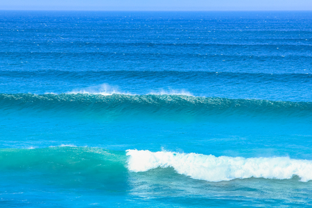 south africa nature: Waves in Atlantic coast, Cape Peninsula. High and powerfull waves in Scarborough, South Africa. Nature background.