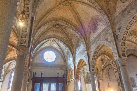 Milan, Italy - November 15, 2016: central roof of the church Santa Maria Delle Grazie.