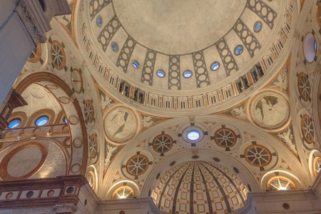martyrdom: Milan, Italy - November 15, 2016: the apse roof of church Santa Maria Delle Grazie.