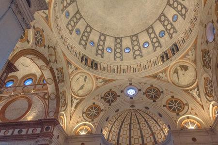 Milan, Italy - November 15, 2016: the apse roof of church Santa Maria Delle Grazie.